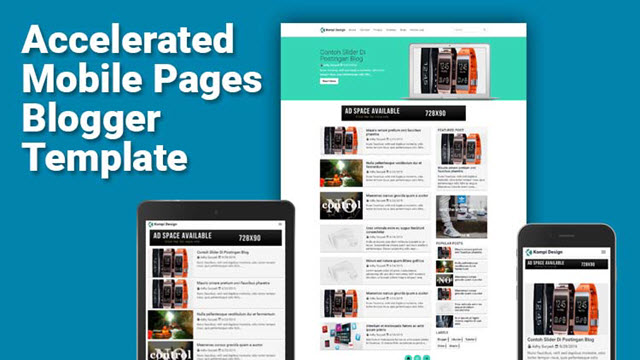 Template Blog AMP