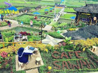 Rute jalan + Lokasi menuju lokasi Cafe Sawah Pujon Kidul