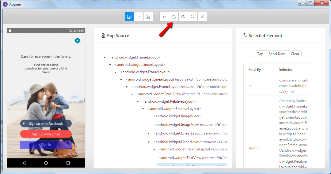 Native Apps - Inspect elements by using UI Automator Viewer and