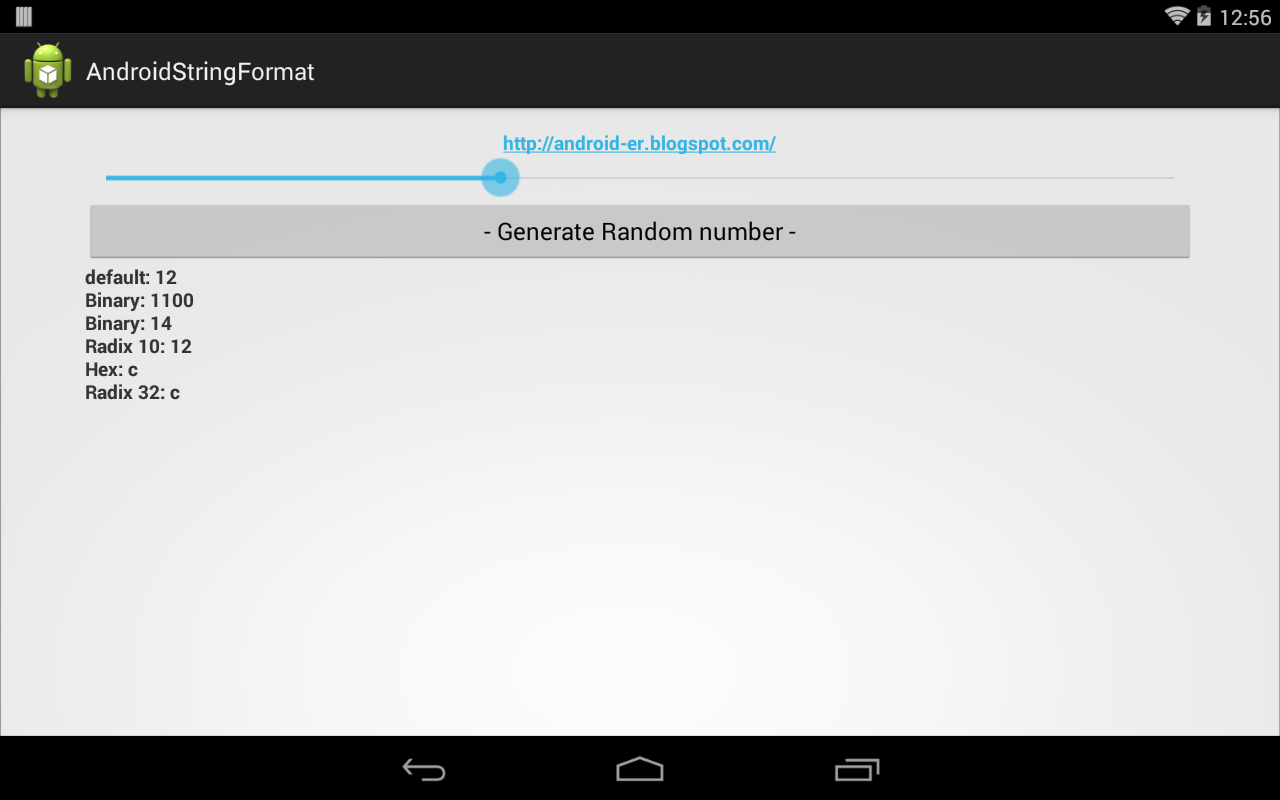 Android-er: Generate random number and display in various radix