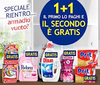 Logo Casa Henkel 1+1 Gratis! Fai il pieno e la tua scorta verrà raddoppiata