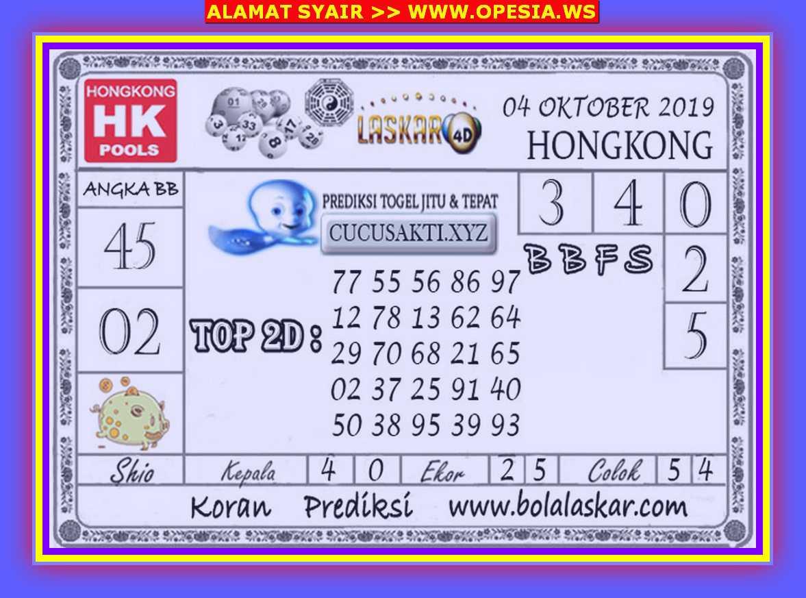 Kode syair Hongkong Jumat 4 Oktober 2019 68