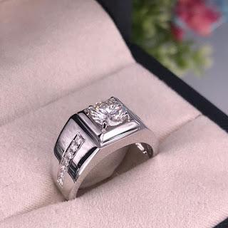 Nhẫn kim cương nam cao cấp
