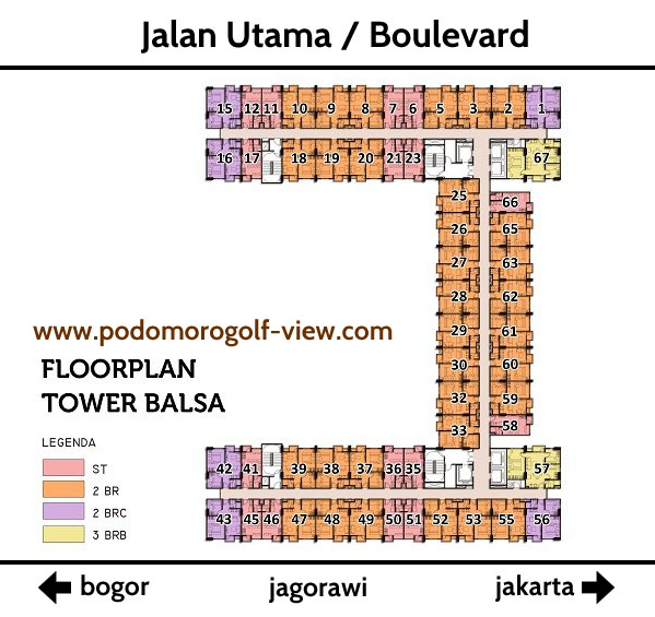 Apartemen PGV Floor Plan Tower Balsa