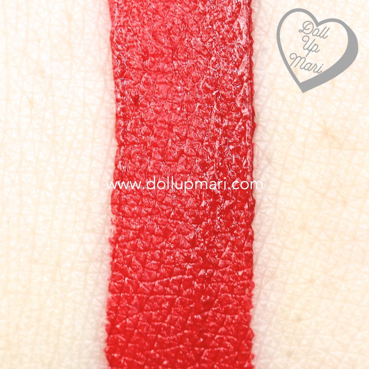 swatch of SilkyGirl Matte Junkie Lipcolor (09 Rouge)