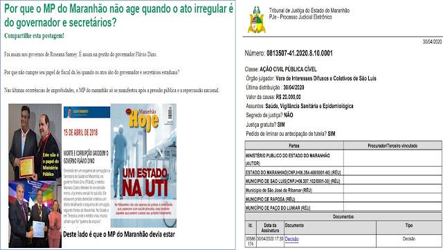 ESPERTEZA COMUNISTA: Governo do MA usa o MP para decretar estado de sitio na Região Metropolitana de São Luís