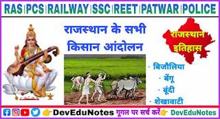 Peasant movement in Rajasthan