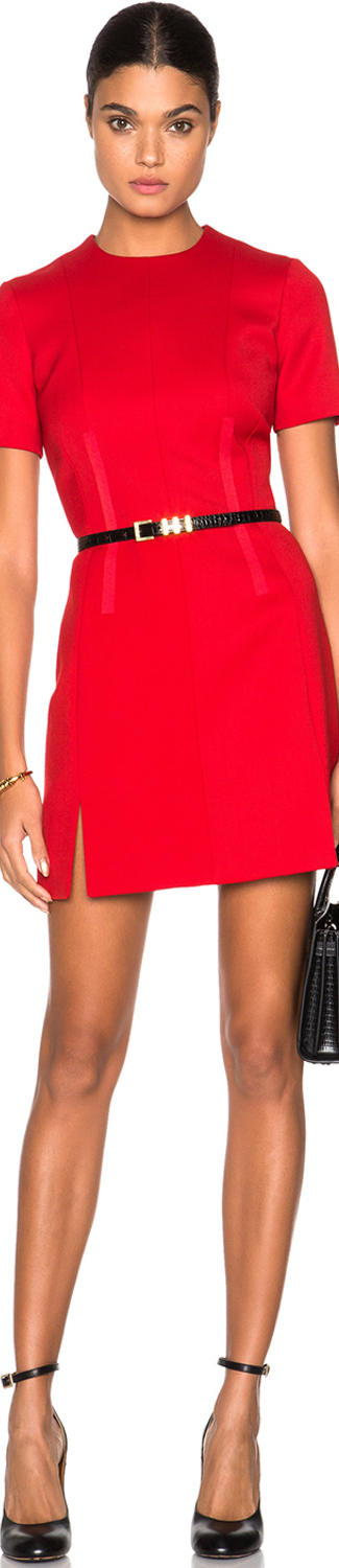 Carven Slit Mini Dress