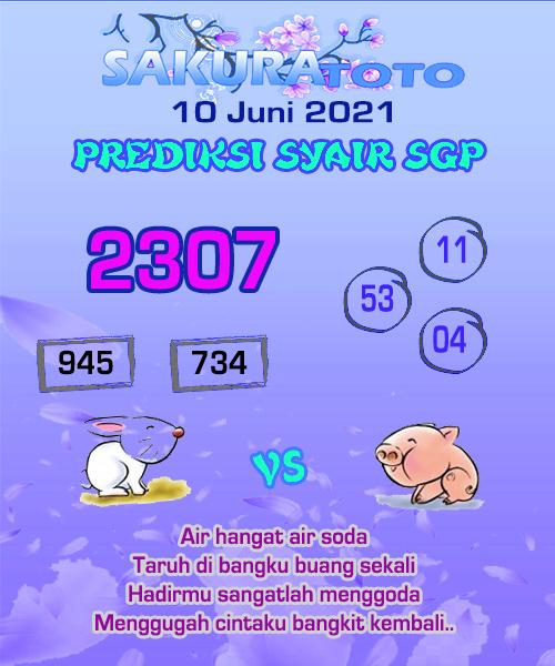 Syair Sakuratoto Singapore Kamis 10 Juni 2021