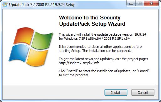 Screenshot Simplix UpdatePack7R2 v19.9.24