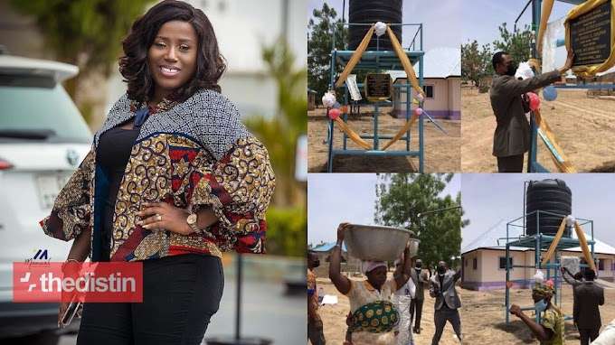 Gospel singer Diana Hamilton builds mechanised borehole for people in TUMU || PHOTOS