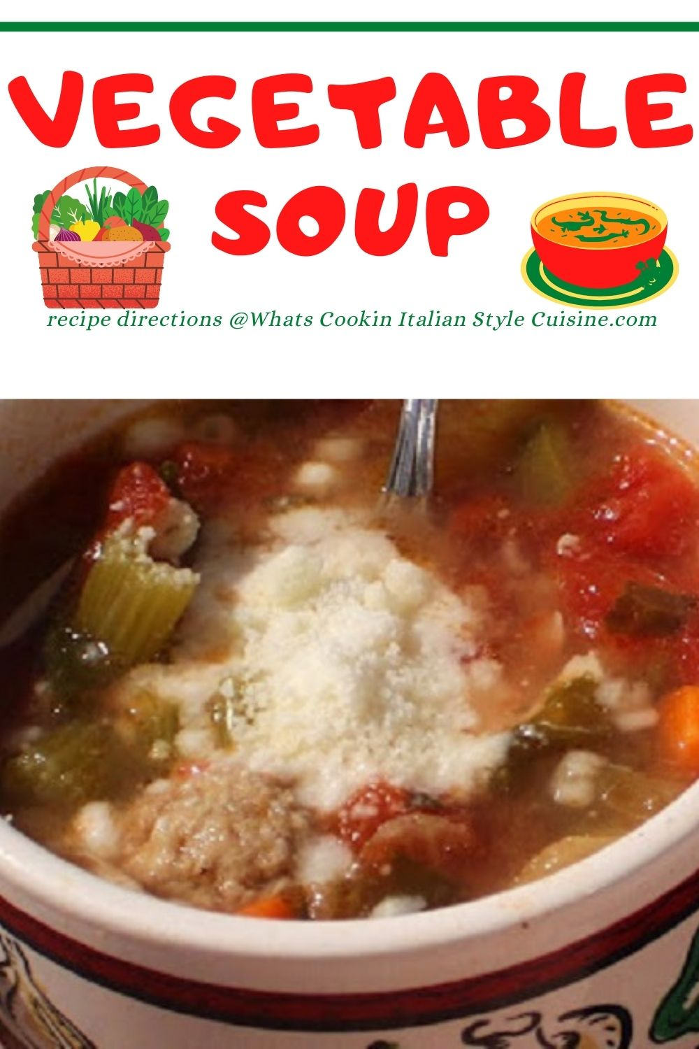 vegetable soup pin for later