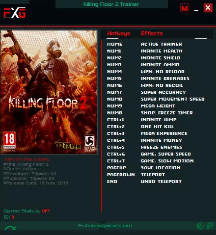 Killing Floor 2: Trainer (+18) [1048 - 1096]
