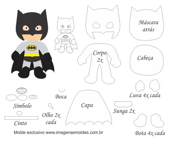 Batman Free Printable Template