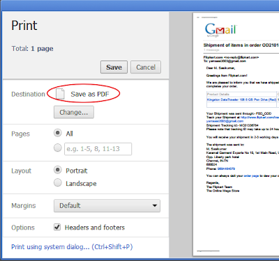Save as gmail pdf