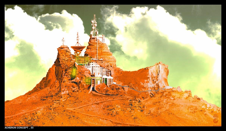 Mars base - Acheron concept 03 by William Bennett