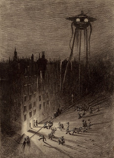1906 Illustration by Henrique Alvin Corrêa for War of the Worlds