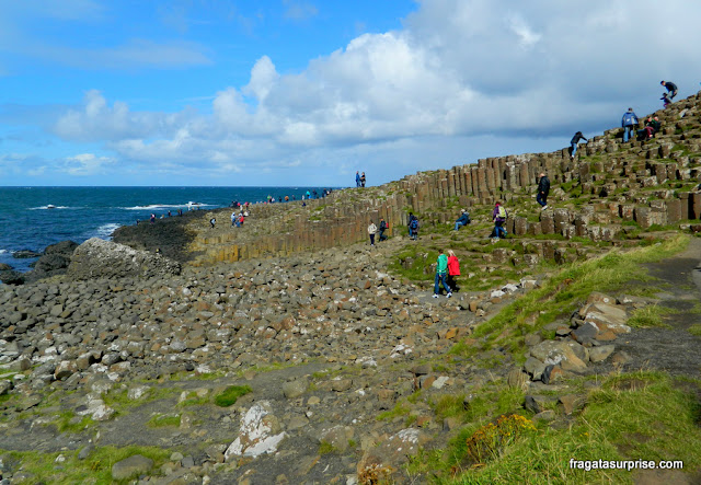 Colunas de basalto do Giant's Causeway, Irlanda do Norte