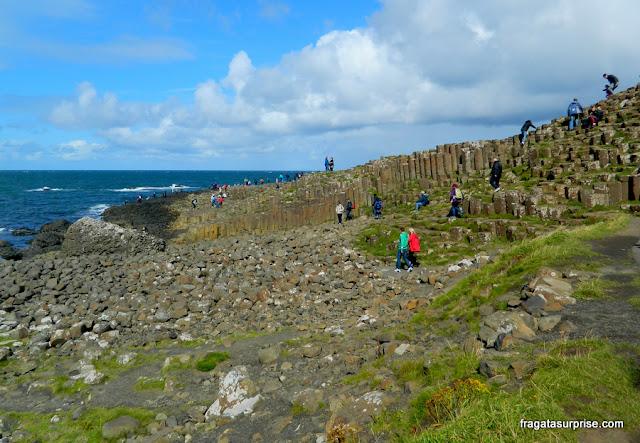 Colunas de basalto do Giant's Causeway, Irlanda do Norte