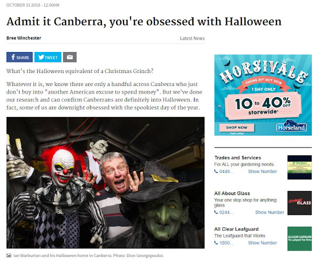 Canberra is embracing Halloween - click to read more