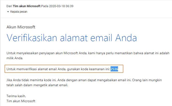 Buat akun Microsoft untuk Excel Online