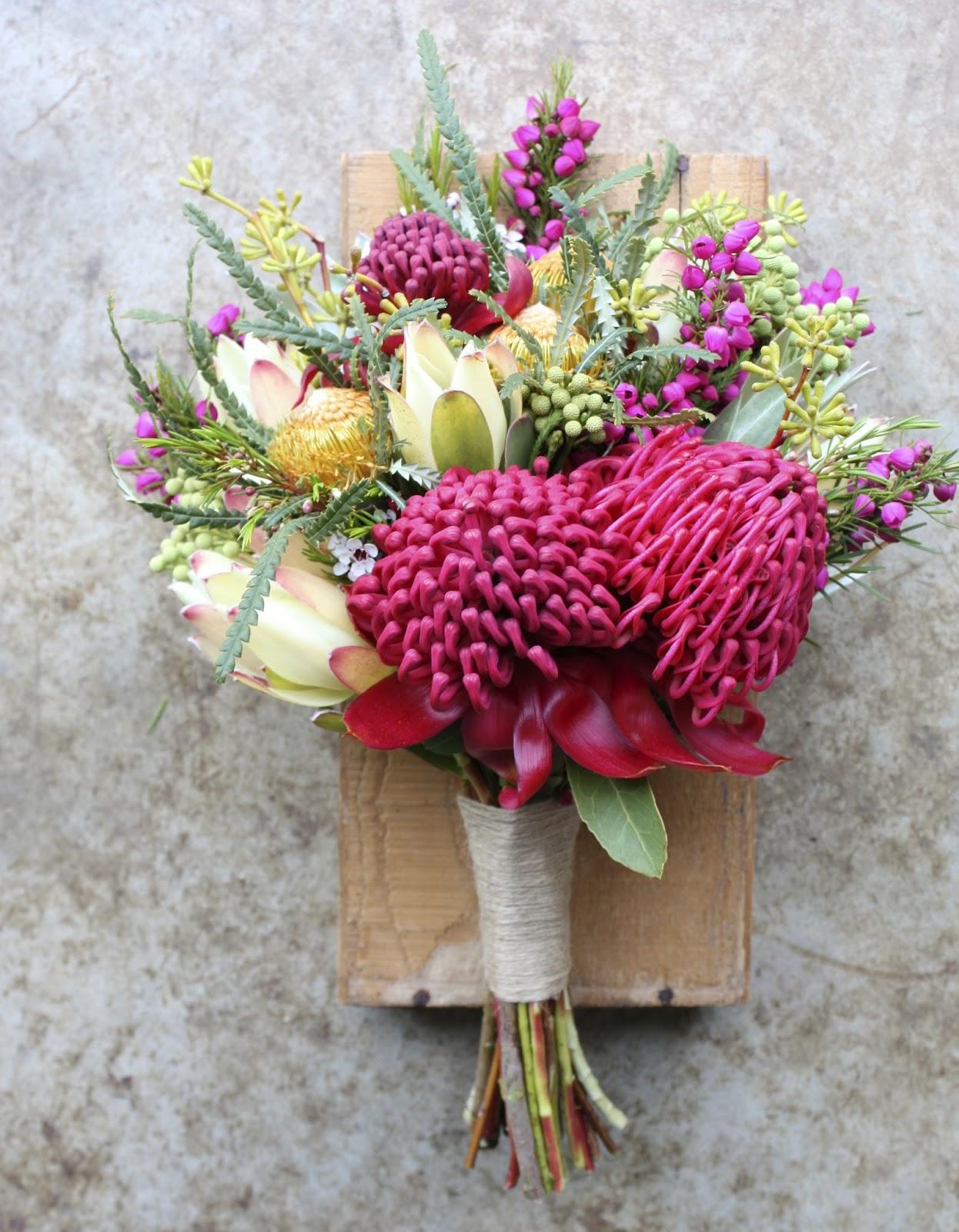 Swallows nest farm waratah wedding bouquets waratah wedding bouquets izmirmasajfo