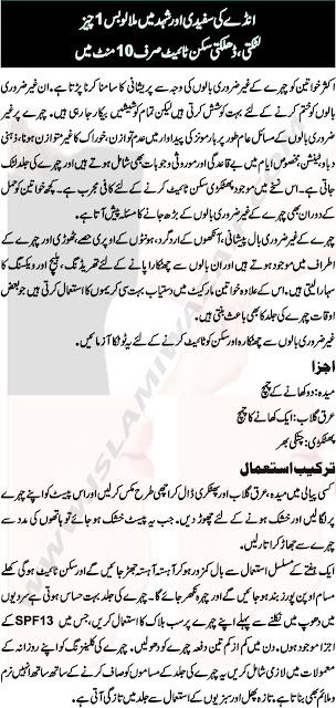 Desi Totkay For Skin Tightening In Urdu