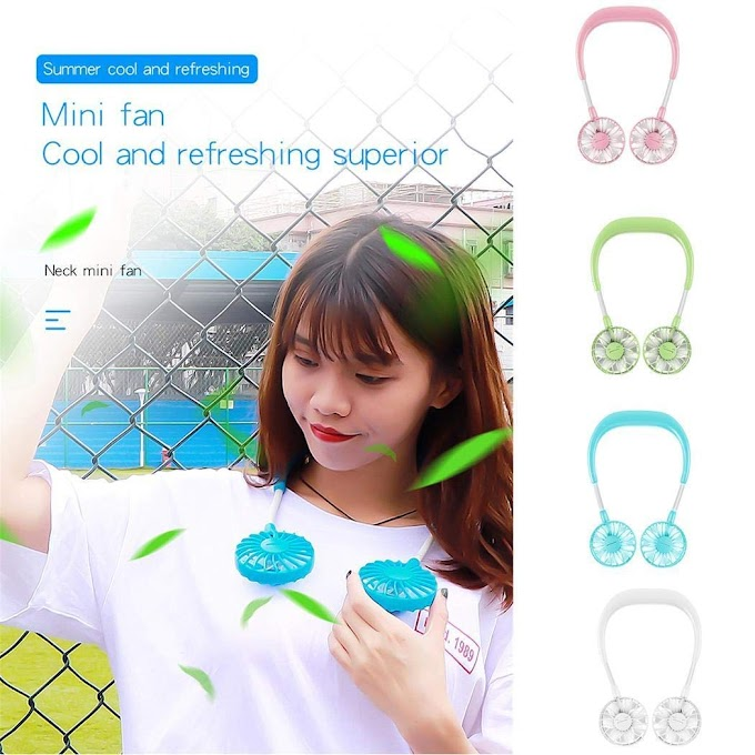 70% off Hand Free Personal Fan  Portable USB Battery Rechargeable Mini Fan