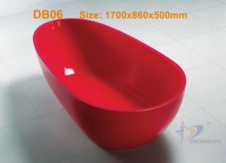 Man-made stone bathtub
