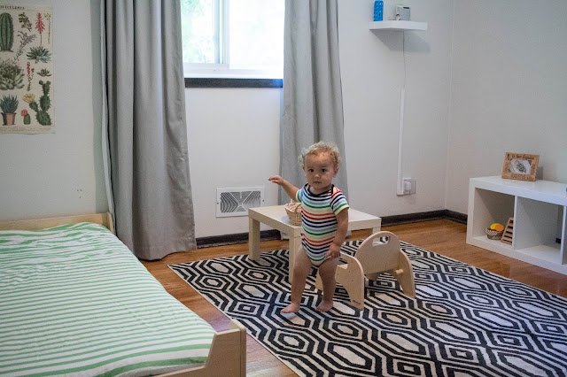 A look at how we have moved from a Montessori nursery to a Montessori toddler bedroom