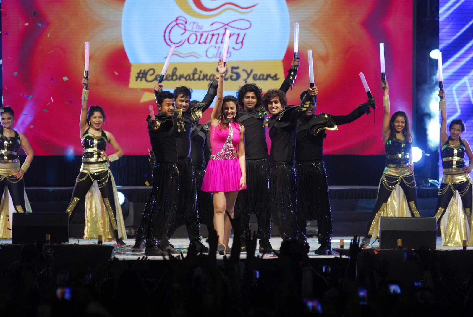 Gauhar Khan New Year Performance At Country Club Photos