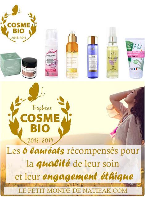 Les Lauréats du Trophée de l'Excellence cosmétique de Cosmébio 2018/2019