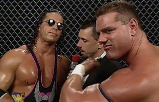 WWE / WWF - In Your House 18: Badd Blood - Michael Cole interviews Bret Hart & British Bulldog about their tag flag match with Vader & The Patriot