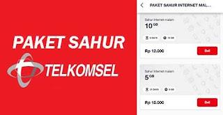 Paket Sahur Internet Malam Telkomsel