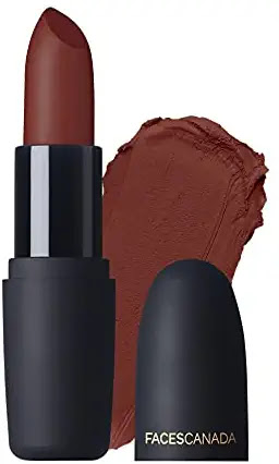 Faces Canada Weightless Matte Finish Lipstick Buff Nude 05 + Royal Maroon 16 g Pack of 2, 8 gram