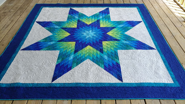 Glowing Lone Star quilt by Slice of Pi Quilts for Craftsy