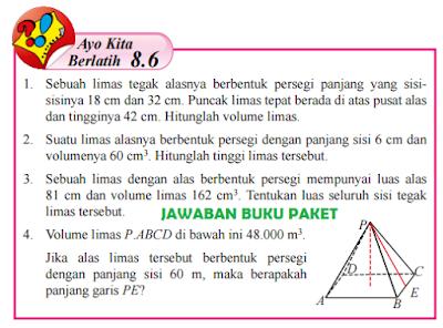 Kunci Jawaban Buku Paket Matematika Kelas 8 Ayo Kita Berlatih 8.6 Halaman 188 189 190 www.jawabanbukupaket.com
