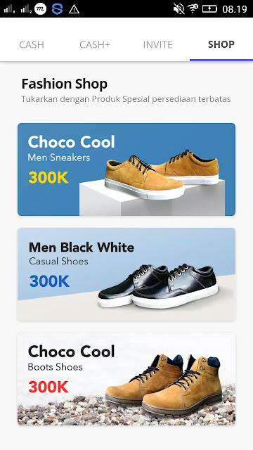 Cara Mendapatkan Sepatu Gratis dari Aplikasi Cashtree