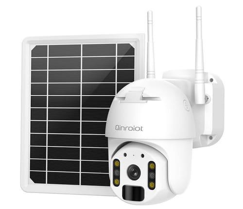 Qinroiot 26000mAh Battery Powered Solar WiFi Security Camera