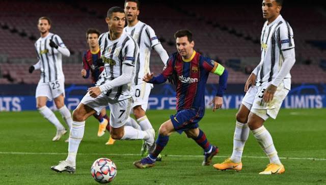خسارة برشلونة من يوفنتوس  في دوري أبطال أوروبا بثلاثية نظيفة