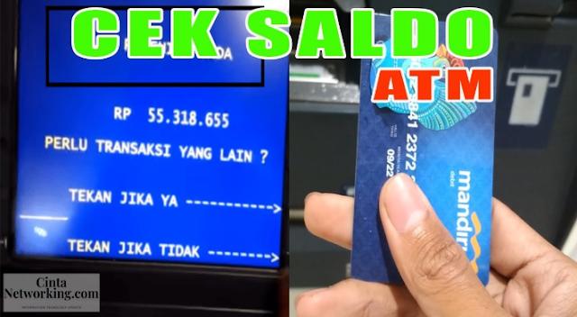 Cara Mudah Cek Rekening BRI Melalui ATM Bank Lengkap Dengan Gambarnya - Cintanetworking.com