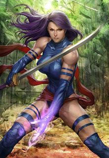 Ilustración de video juegos mujer guerrera con buen cuerpo