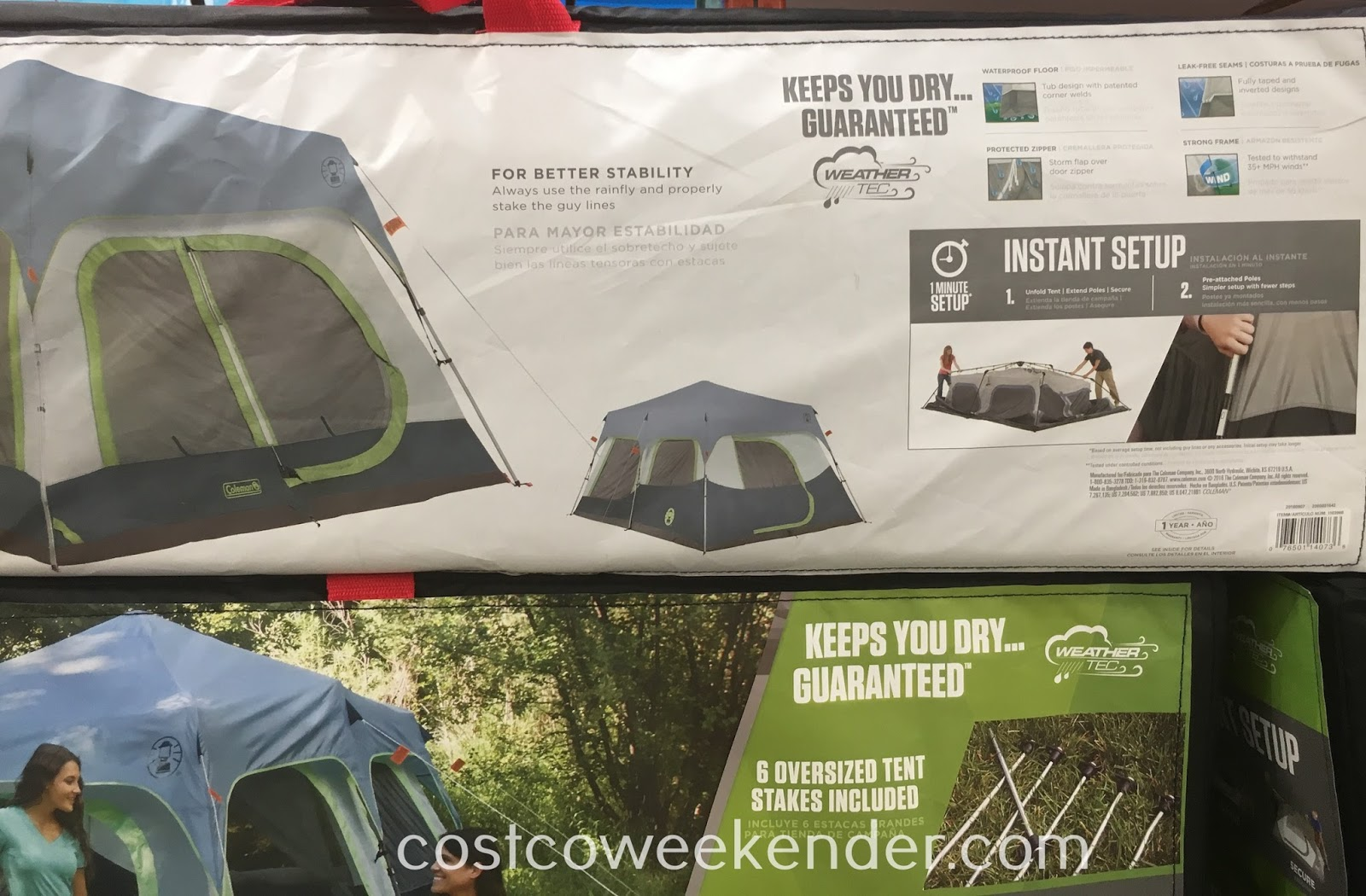 Coleman 10-person Instant Tent: your home away from home
