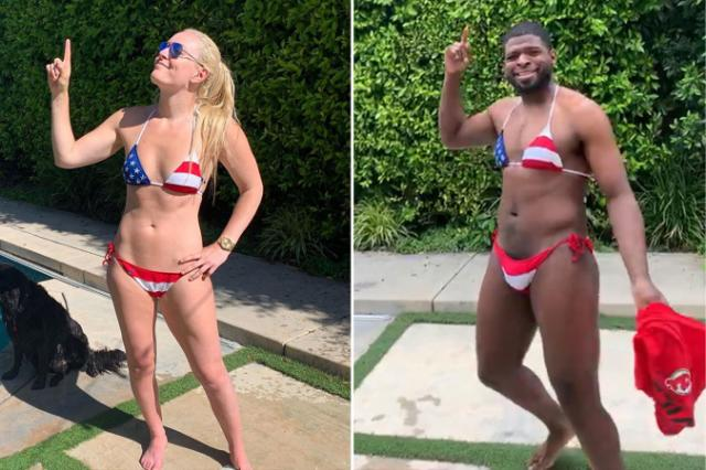 Lindsey Vonn's Boyfriend Wore Her Bikini on the 4th of July
