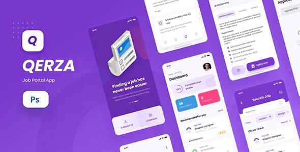 Best Job Portal iOS App Design PSD Template
