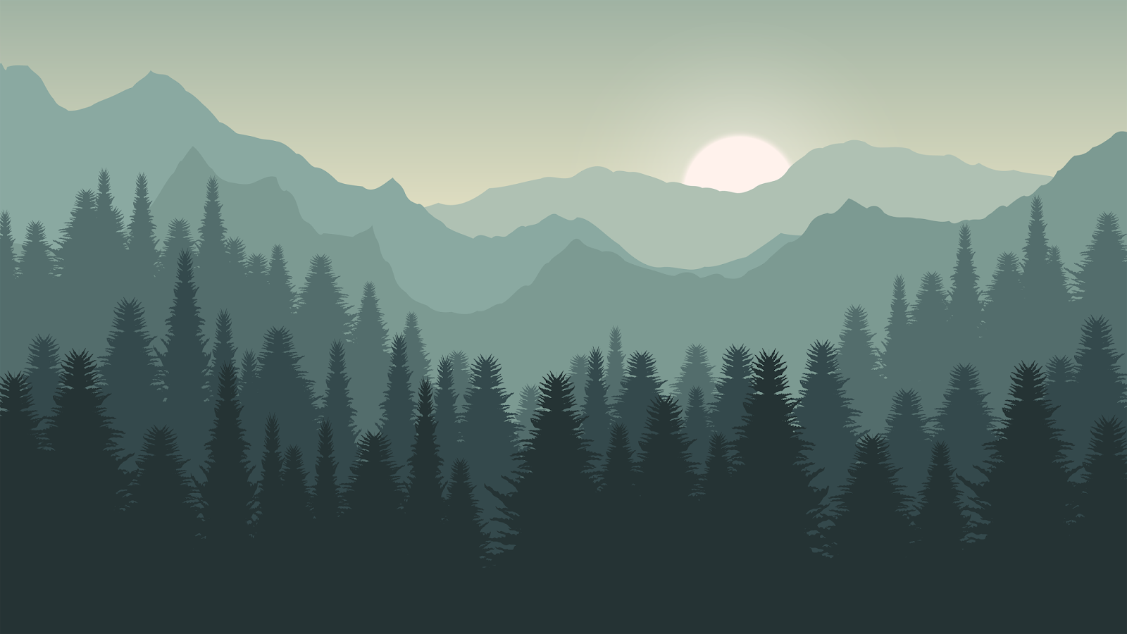 Forest illustration in 4K resolution