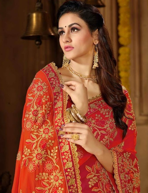 Roohi vol 4 Manohari Wedding Saree | Georgette Embroidered wedding saree