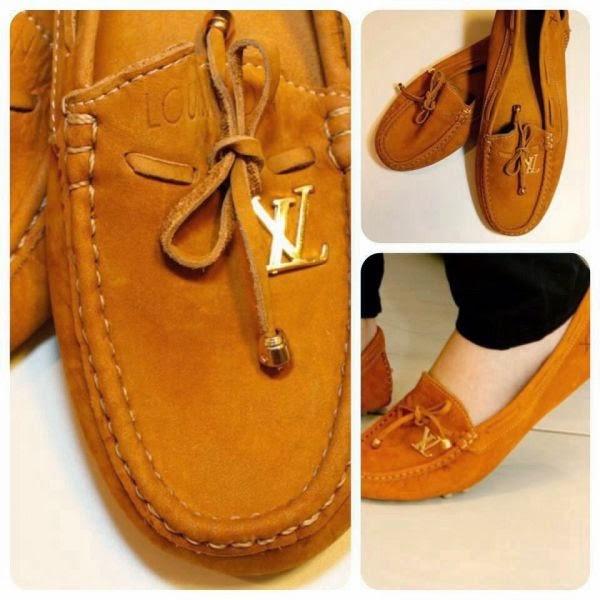 86f528db29 Um dos nossos produtos aqui do blog é essa réplica de mocassim da marca  Louis Vuitton: