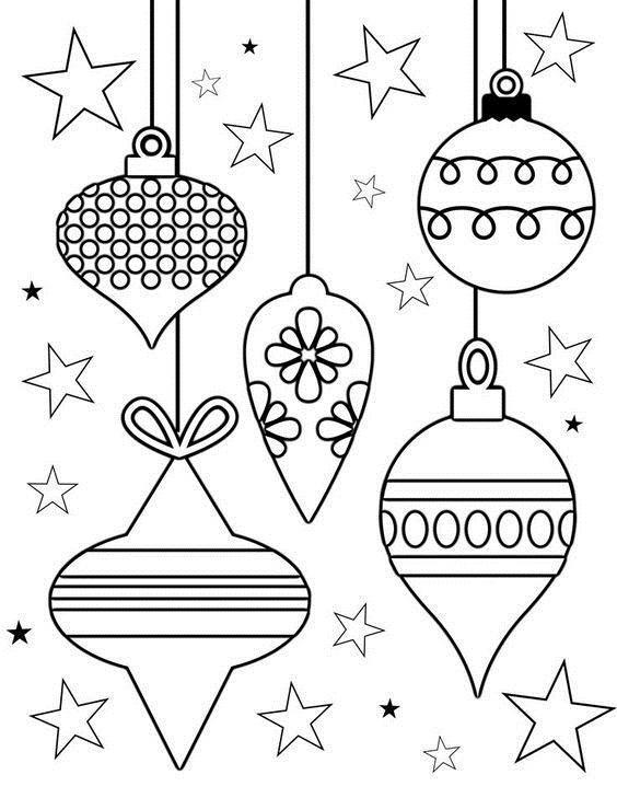 Tranh tô màu đèn Noel đẹp