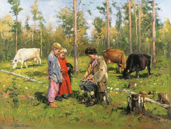 Маковский Владимир Егорович - Пастушки. 1904